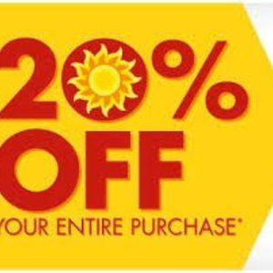 Other - 20% off Our Entire Closet!!!